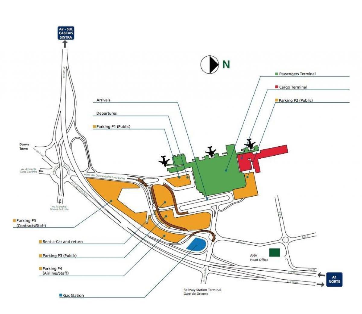 Flughafen Lissabon Ankunft Plan