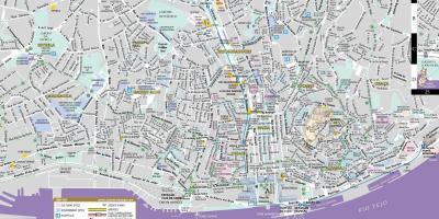 Karte Anzeigen.Lissabon Karte Karten Lissabon Portugal